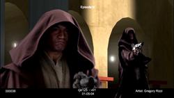 Clone déguisé en Jedi