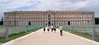 La façade du Palais de Caserte