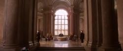 La salle du trône dans l'Épisode II