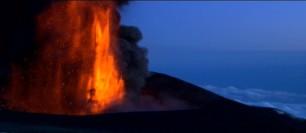 l'éruption filmée par Lucasfilm