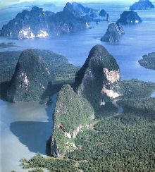 la baie de Phang Nga