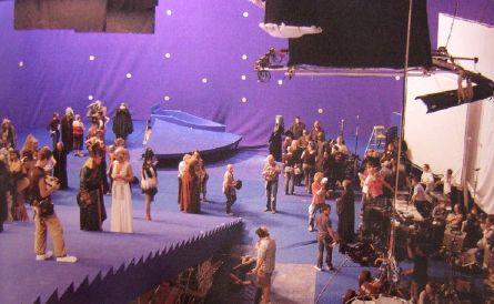tournage d'une scène de l'Episode III
