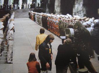 tournage de la cérémonie finale de l'Episode IV