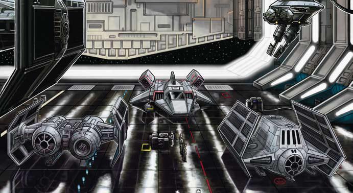 Le hangar à chasseurs de l'Executor