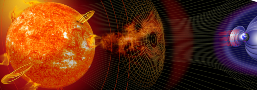 Le champ magnétique qui protège la Terre des agressions solaires et cosmiques © NASA