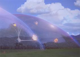 Le dôme bouclier des Gungans © Star Wars La Menace Fantôme, Lucasfilm