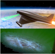 Le faisceau laser fabrique une lentille © vue d'artiste BAE System