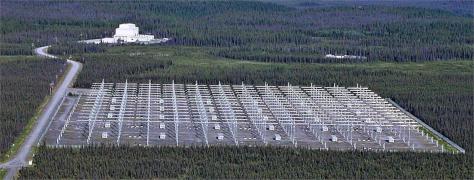 Une partie du projet HAARP, en Alaska © Geoscience