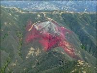 Le résultat du retardataire sur l'un des sommets du Gibraltar © Cal Fire