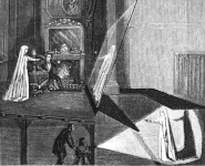Illustration du principe du fantôme de Pepper © The Magic Lantern 1866