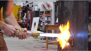 Sixième prototype de sabre laser de chez Hacksmith Industries © Hacksmith Industries